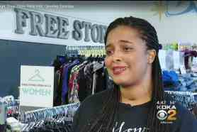 Heather Hopson opened Free Store Penn Hills with the theme: Love your neighbor.