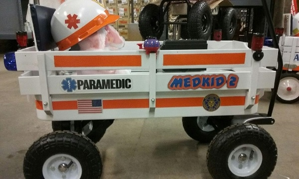 Pittsburgh EMS team adds two more fun wagons–MEDKIDs–to Children's Hospital ward