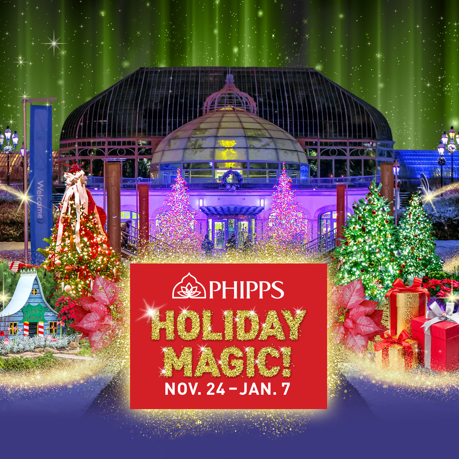 From Our Sponsor: Celebrate Holiday Magic at Phipps' Winter Flower Show and Light Garden!
