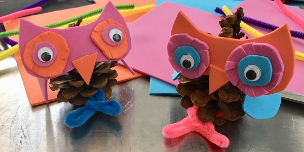 Maker Monday: Pine Cone Owls