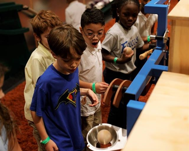 Rube Goldberg's zany chain-reaction machines come to life in new exhibit at the Children's Museum