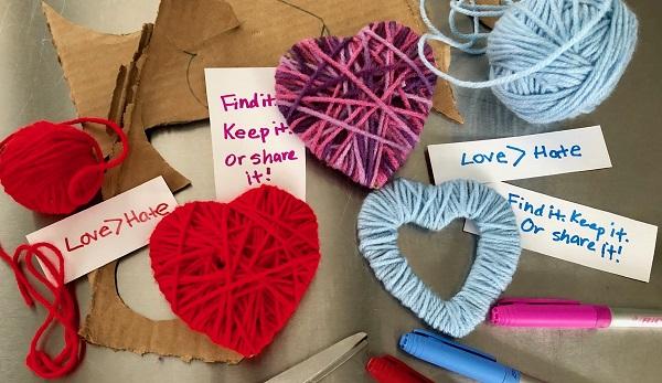 Maker Monday: Yarn Share-A-Heart