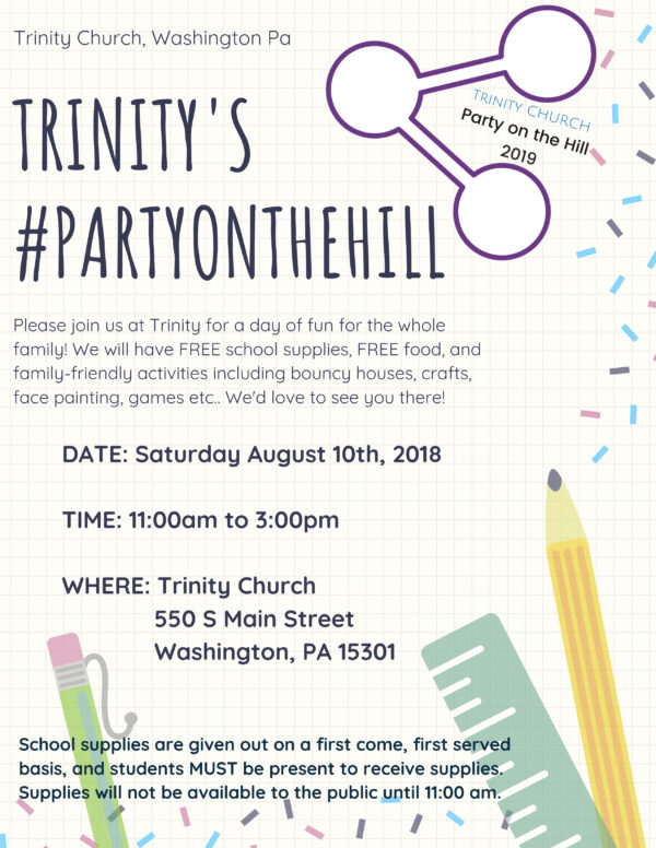 Trinity's #PartyOnTheHill — Kidsburgh
