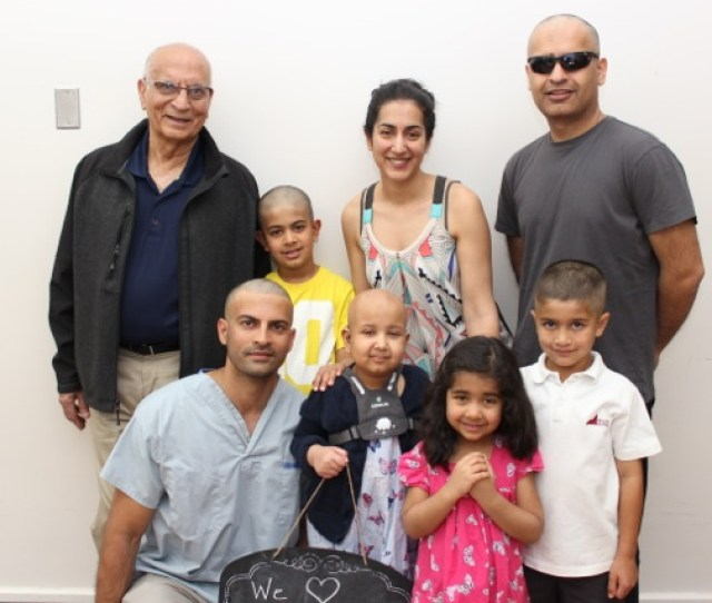 Family At Head Shave