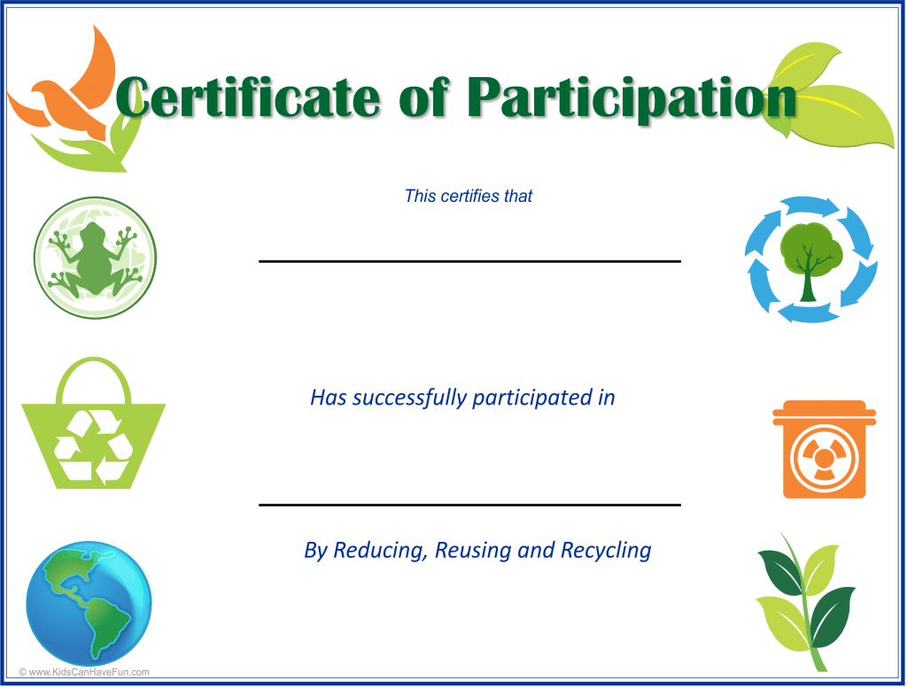 Earth Day Certificates For Kids Archives