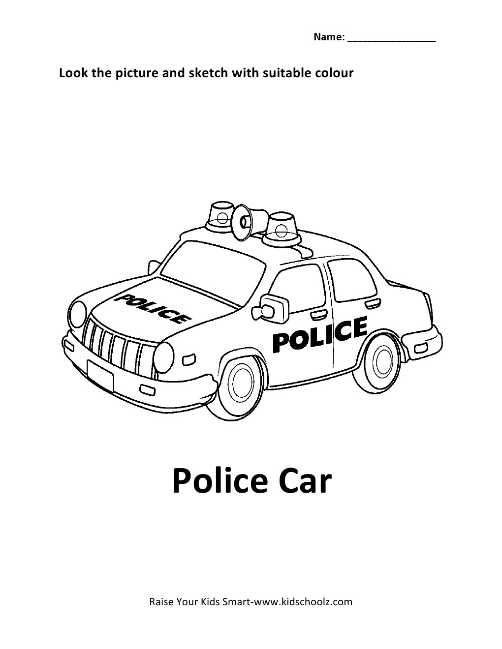police helicopter coloring pages Car Pictures