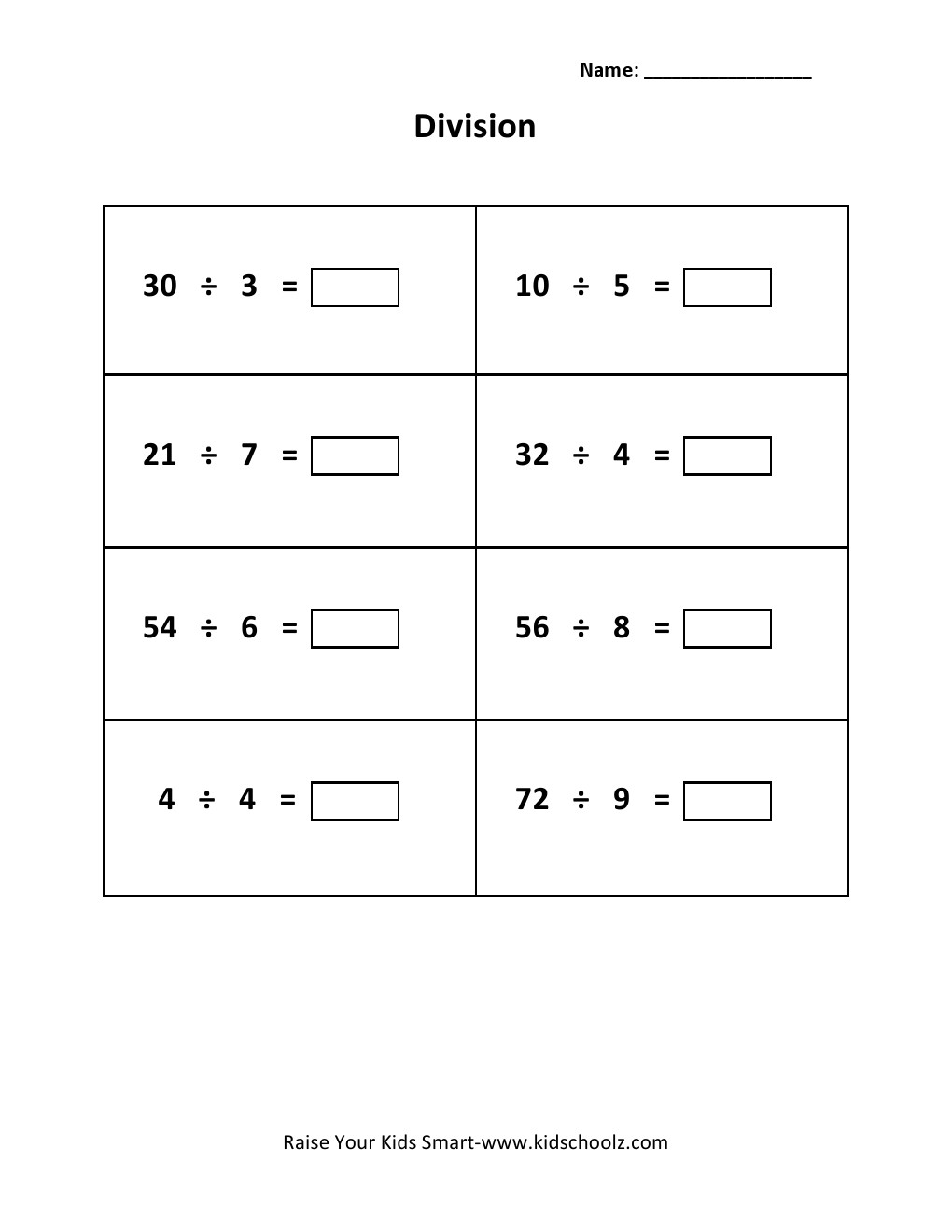 hight resolution of Grade 3 - Division Worksheet 9 - Kidschoolz