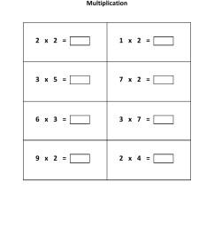 Grade 2 - Multiplication Worksheet 1 - Kidschoolz [ 1320 x 1020 Pixel ]