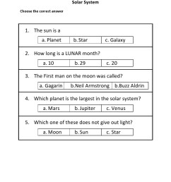 Grade 2 - Solar System Worksheet 3 - Kidschoolz [ 1320 x 1020 Pixel ]