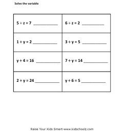 Grade 5 - Pre-Algebra Division Worksheet 2 - Kidschoolz [ 1403 x 992 Pixel ]