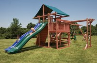 Backyard Playsets with Side by Side Slides | Main Attraction