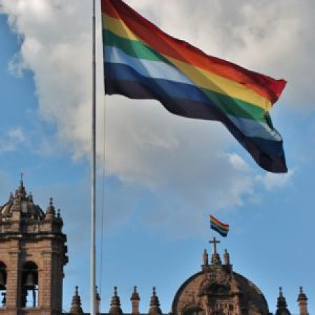 Cusco Rainbow Flags