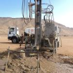 Drilling for water - great excitement for a village!