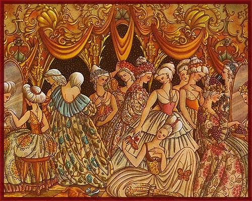 12 putri menari
