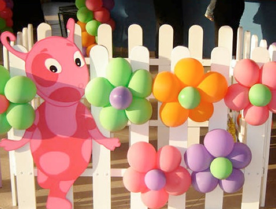 girls party balloon decorations