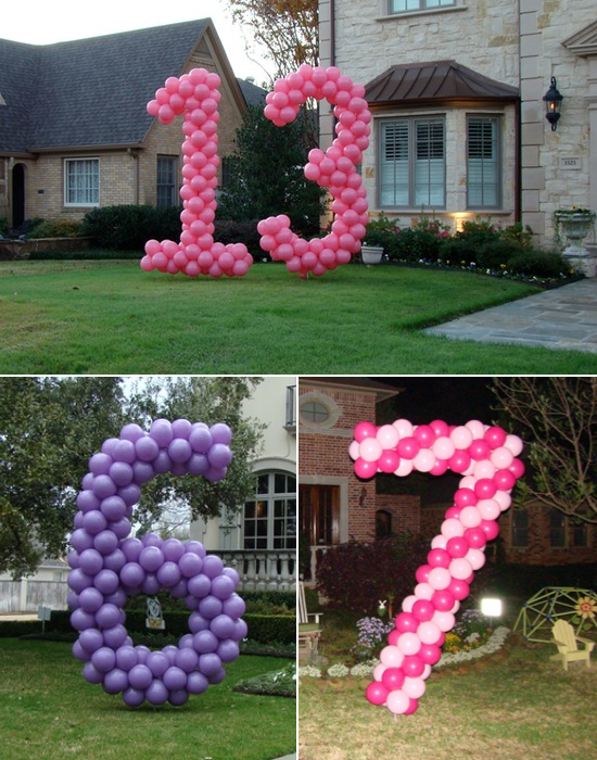balloon decorations for the yard