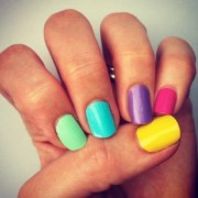 rainbow nail art - kids kubby