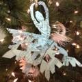Paper ballerina snowflakes kids kubby