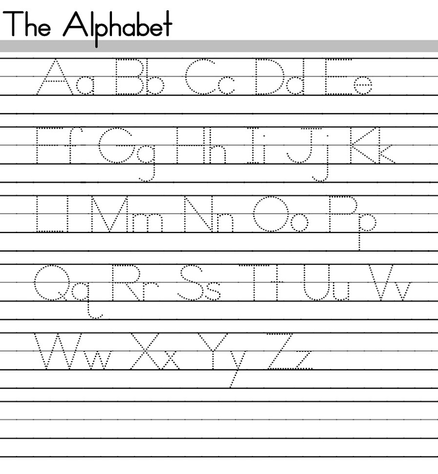 hight resolution of ABC Tracing Sheets