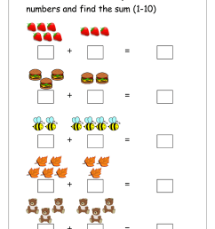 Addition Worksheets for Grade 1 [ 1400 x 989 Pixel ]