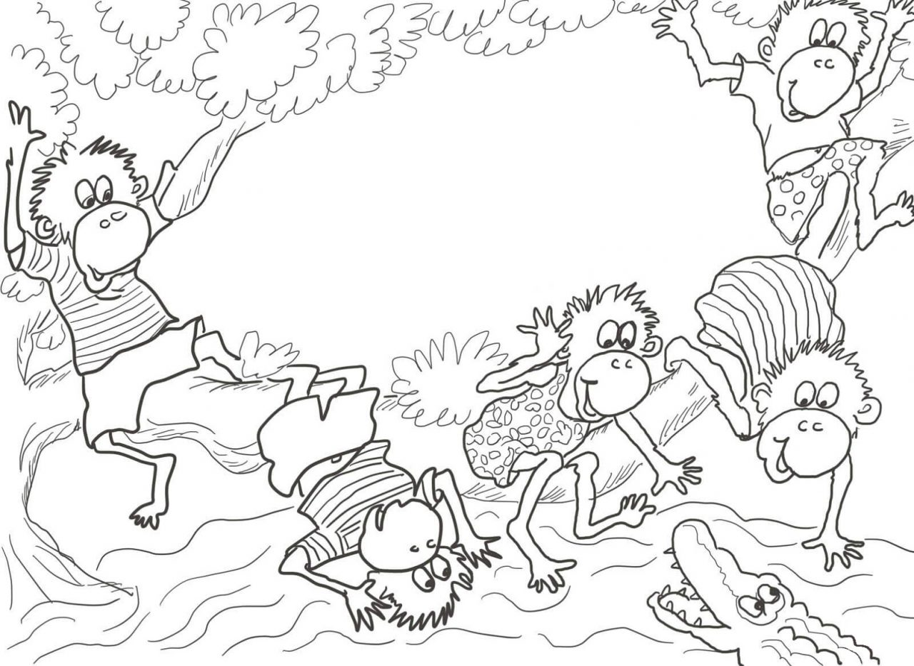 Coloring Pages Of Monkeys Printable Kids Learning Activity