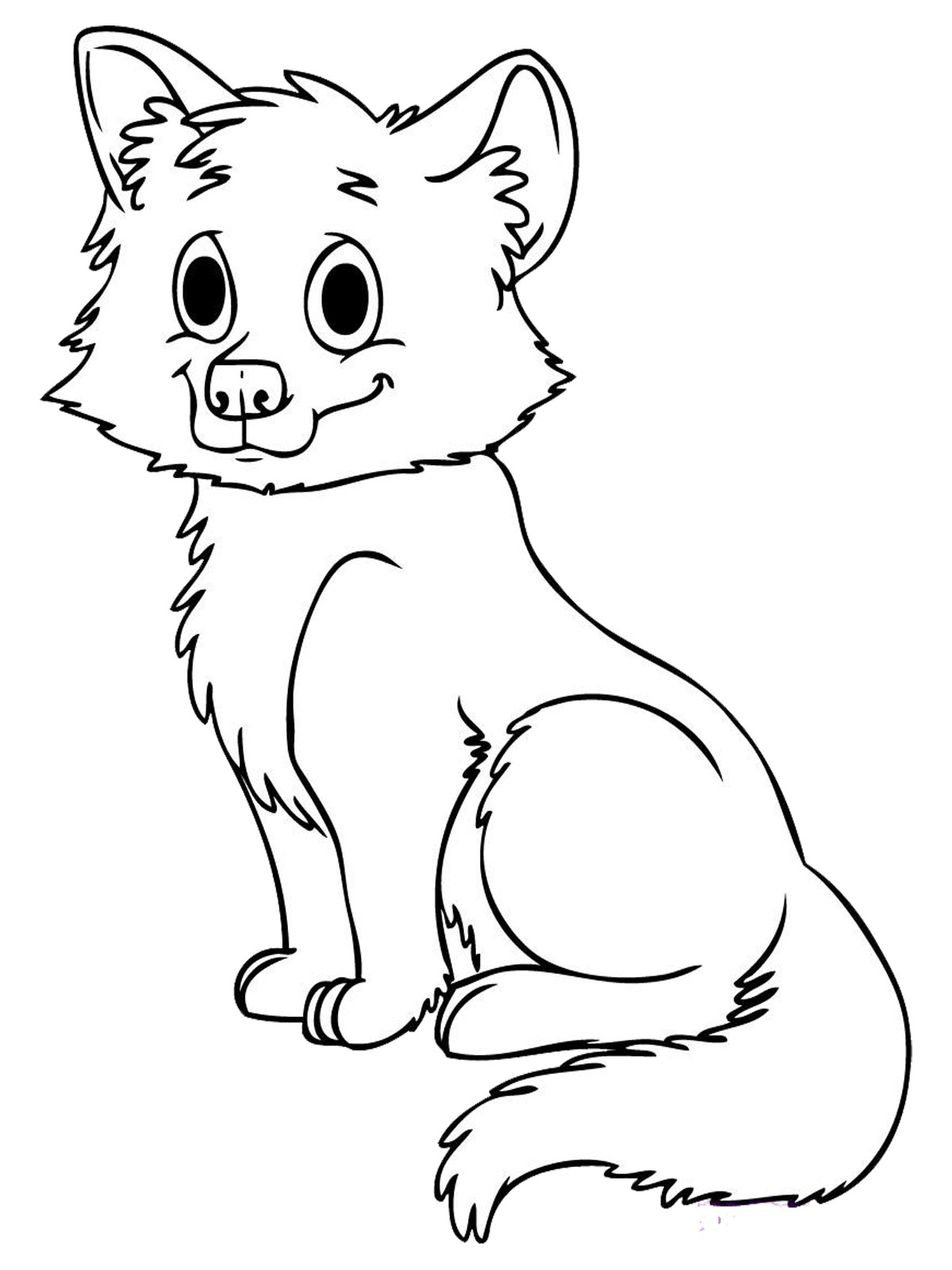 Cute Wolf Coloring Pages