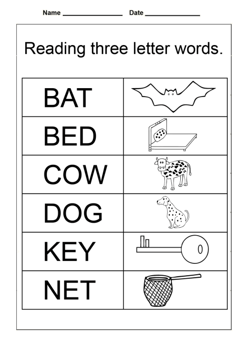 small resolution of Kindergarten Worksheets Reading Homework   Printable Worksheets and  Activities for Teachers