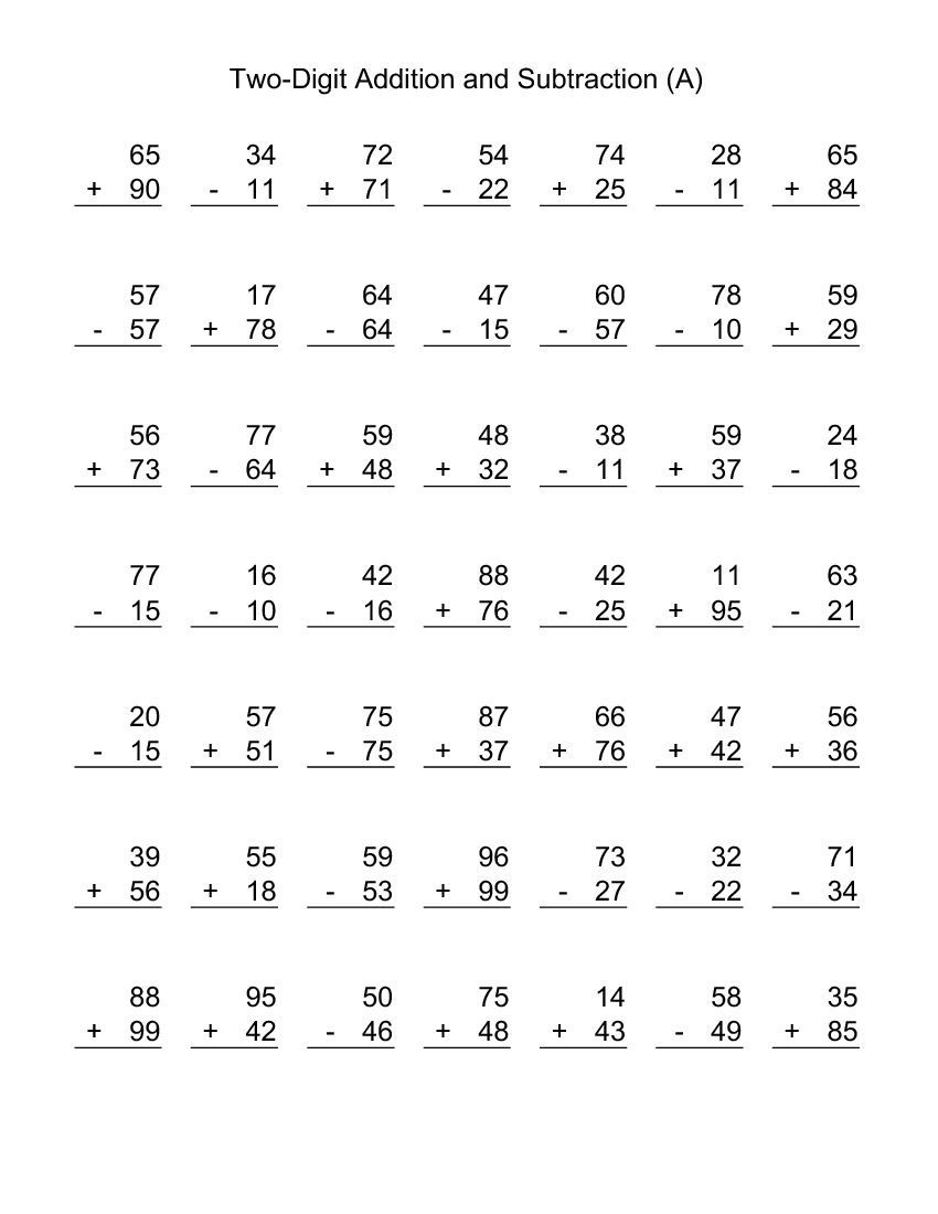 medium resolution of Printable 2nd Grade Math Worksheets