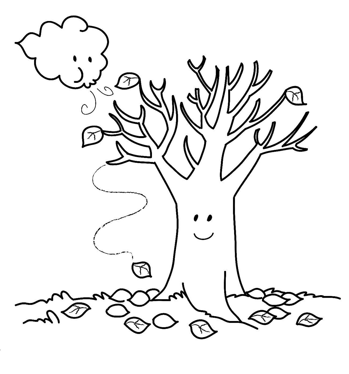Fall Coloring Pages For Toddlers