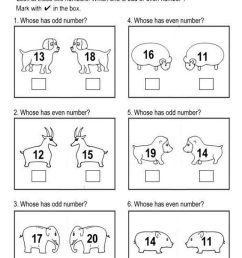 Even and Odd Worksheets 1st Grade [ 1699 x 1200 Pixel ]