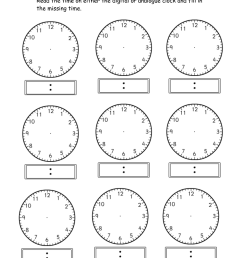 Telling Time Worksheets [ 1500 x 1060 Pixel ]