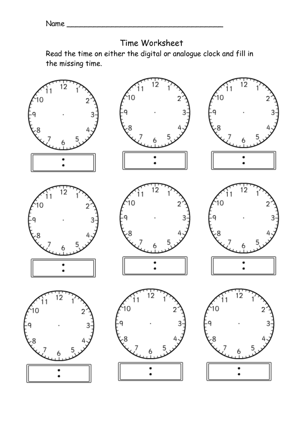 medium resolution of Telling Time Worksheets