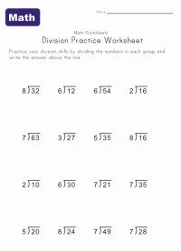 Simple Division Worksheets | Kids Learning Station
