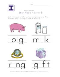 Short Vowel Worksheets for Kids