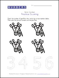 Preschool Worksheet Printables: Counting and Number