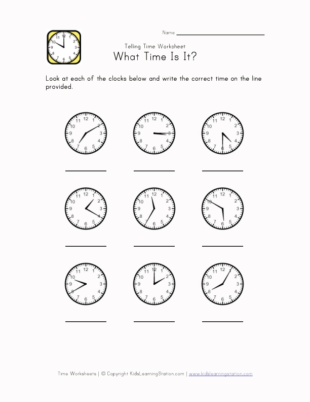 time worksheet: NEW 872 TELLING TIME WORKSHEETS BY 5 MINUTES