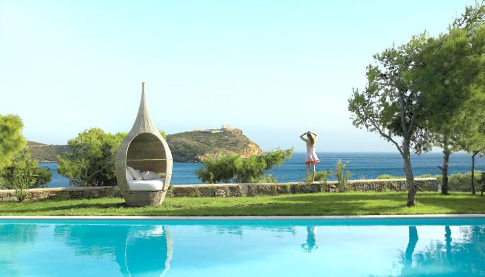 Cape Sounio Grecotel Exclusive Resort pool view