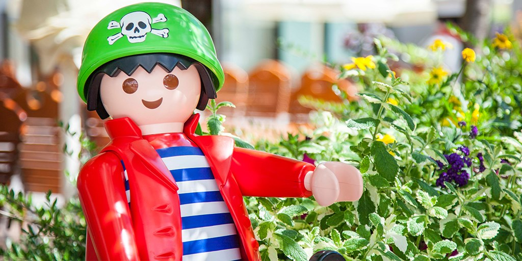 Life size figures Playmobil Funpark Athens Family Vacation Kids Love Greece