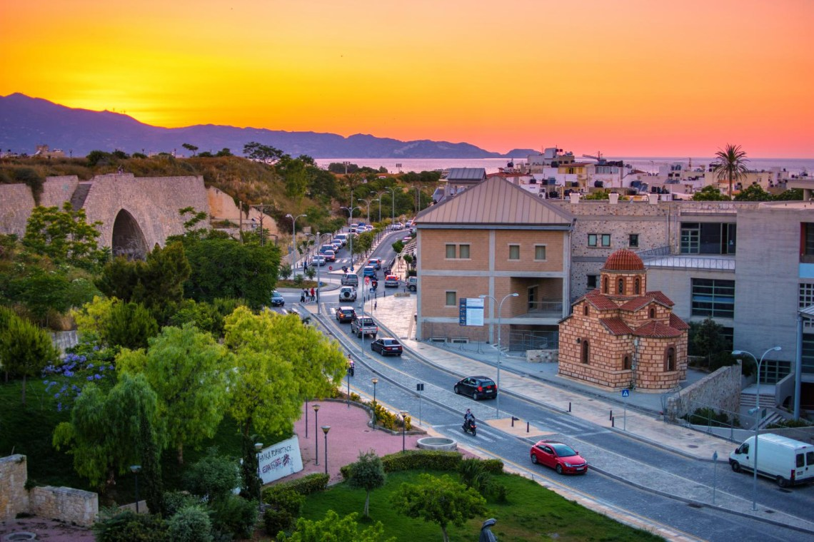 Heraklion-city-sunset