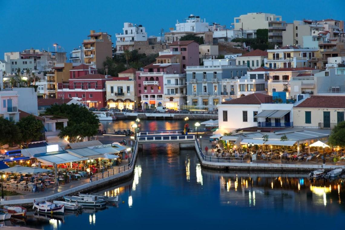 Aghios Nikolaos town Lasithi Crete