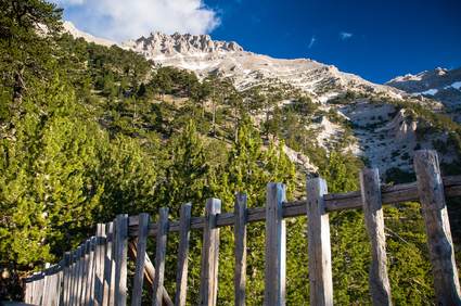 Mount Olympus Mythikas peak, tallest mountain on Greece
