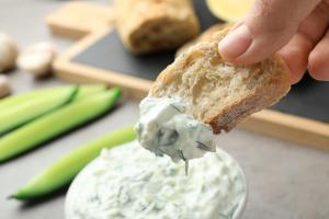 tzatziki dip greek vegan food