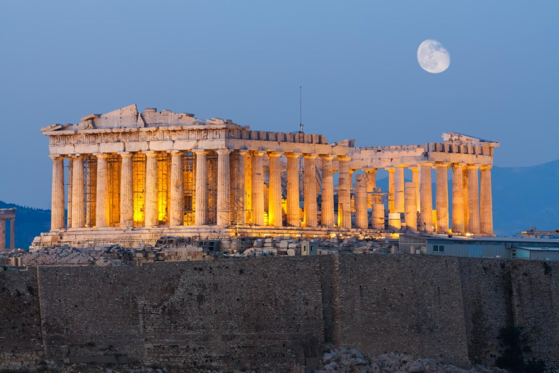 Parthenon in fullmoon