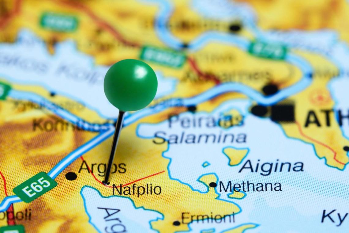 pin on map Nafplio