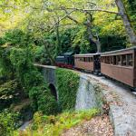 train climbing Pelion mountain
