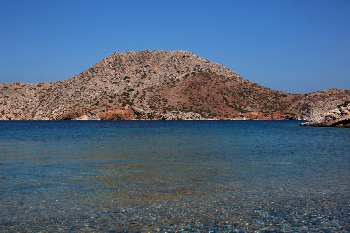 beatiful beach and sea at Hydra island