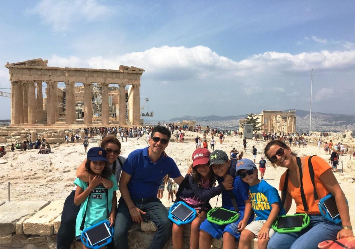 Family tour in Acropolis KidsLoveGreece.com