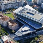 Acropolis museum aerial view