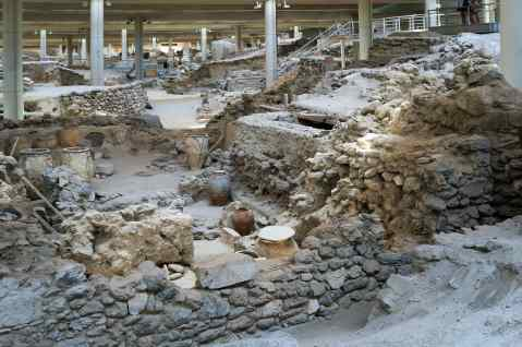 Santorini Akrotiri archeological site Kids Love Greece
