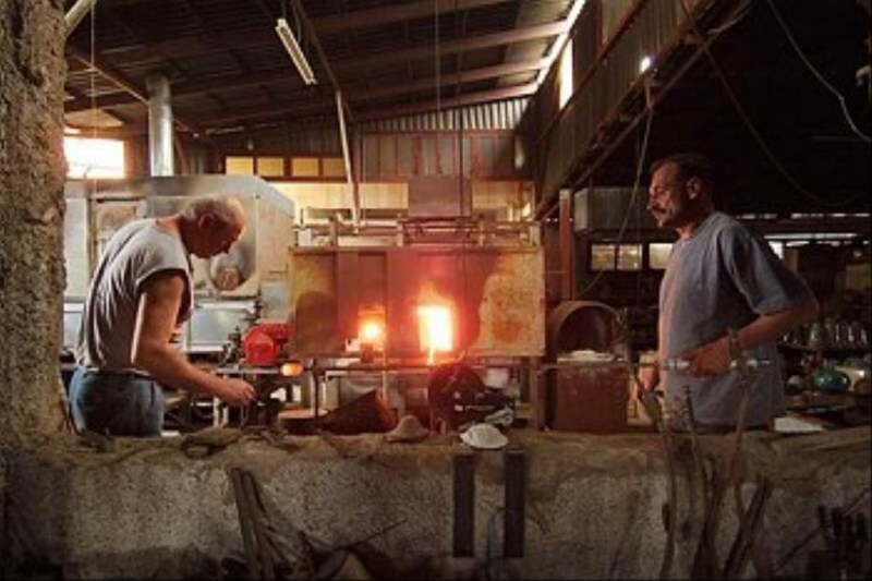 Glass blowing factory in Kokkinο Horio